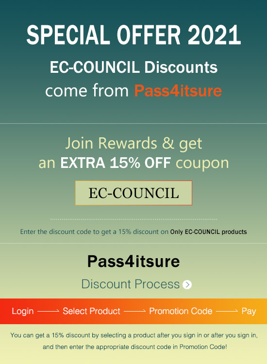 Pass4itsure EC-COUNCIL exam coupon code